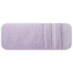 Ręcznik z bawełny z ozdobnym stebnowaniem 50x90cm - 50 X 90 cm - liliowy 2