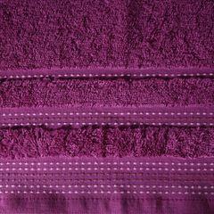 Ręcznik z bawełny z ozdobnym stebnowaniem 50x90cm - 50 X 90 cm - fioletowy 7