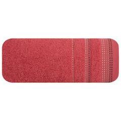 Ręcznik z bawełny z ozdobnym stebnowaniem 30x50cm - 30 X 50 cm - czerwony 2