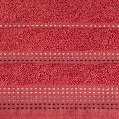 Ręcznik z bawełny z ozdobnym stebnowaniem 50x90cm - 50 X 90 cm - czerwony 4