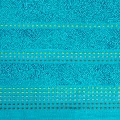Ręcznik z bawełny z ozdobnym stebnowaniem 30x50cm - 30 X 50 cm - turkusowy 4