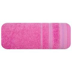 Ręcznik z bawełny z ozdobnym stebnowaniem 30x50cm - 30 X 50 cm - różowy 2