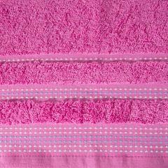 Ręcznik z bawełny z ozdobnym stebnowaniem 50x90cm - 50 X 90 cm - różowy 4
