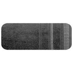 Ręcznik z bawełny z ozdobnym stebnowaniem 50x90cm - 50 X 90 cm - stalowy 2