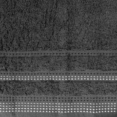 Ręcznik z bawełny z ozdobnym stebnowaniem 50x90cm - 50 X 90 cm - stalowy 4