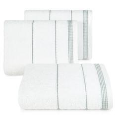 Ręcznik z bawełny ze sznurkowym zdobieniem 50x90cm - 50 X 90 cm - biały 1