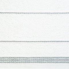 Ręcznik z bawełny ze sznurkowym zdobieniem 50x90cm - 50 X 90 cm - biały 10