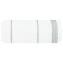 Ręcznik z bawełny ze sznurkowym zdobieniem 50x90cm - 50 X 90 cm - biały 2