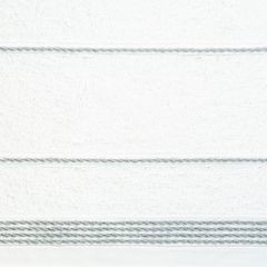 Ręcznik z bawełny ze sznurkowym zdobieniem 50x90cm - 50 X 90 cm - biały 4