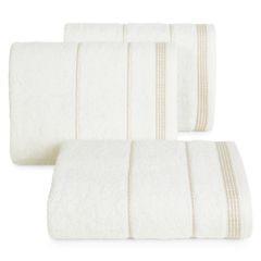 Ręcznik z bawełny ze sznurkowym zdobieniem 50x90cm - 50 X 90 cm - kremowy 1