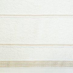 Ręcznik z bawełny ze sznurkowym zdobieniem 50x90cm - 50 X 90 cm - kremowy 6