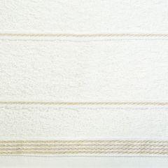 Ręcznik z bawełny ze sznurkowym zdobieniem 70x140cm - 70 X 140 cm - kremowy 9