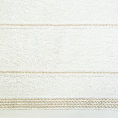 Ręcznik z bawełny ze sznurkowym zdobieniem 70x140cm - 70 X 140 cm - kremowy 5