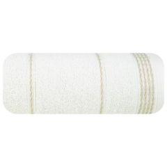 Ręcznik z bawełny ze sznurkowym zdobieniem 70x140cm - 70 X 140 cm - kremowy 2