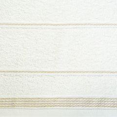 Ręcznik z bawełny ze sznurkowym zdobieniem 70x140cm - 70 X 140 cm - kremowy 4