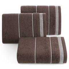 Ręcznik z bawełny ze sznurkowym zdobieniem 30x50cm - 30 X 50 cm - brązowy 1