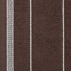 Ręcznik z bawełny ze sznurkowym zdobieniem 30x50cm - 30 X 50 cm - brązowy 4