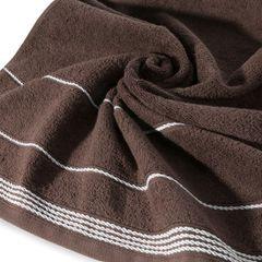 Ręcznik z bawełny ze sznurkowym zdobieniem 30x50cm - 30 X 50 cm - brązowy 5