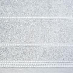 Ręcznik z bawełny ze sznurkowym zdobieniem 70x140cm - 70 X 140 cm - srebrny 5