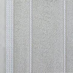 Ręcznik z bawełny ze sznurkowym zdobieniem 70x140cm - 70x140 - srebrny 3