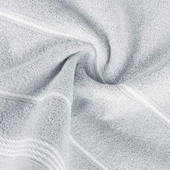 Ręcznik z bawełny ze sznurkowym zdobieniem 70x140cm - 70 X 140 cm - srebrny 8