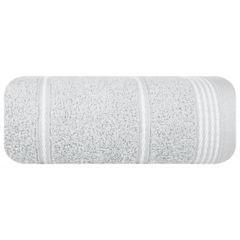 Ręcznik z bawełny ze sznurkowym zdobieniem 70x140cm - 70 X 140 cm - srebrny 2