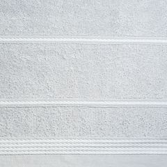 Ręcznik z bawełny ze sznurkowym zdobieniem 70x140cm - 70 X 140 cm - srebrny 4