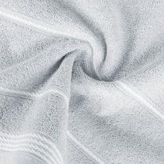 Ręcznik z bawełny ze sznurkowym zdobieniem 70x140cm - 70x140 - srebrny 2