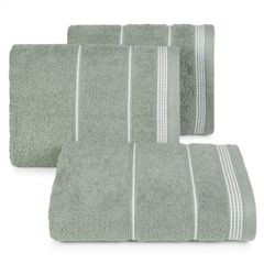 Ręcznik z bawełny ze sznurkowym zdobieniem 50x90cm - 50 X 90 cm - stalowy 1