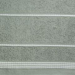 Ręcznik z bawełny ze sznurkowym zdobieniem 50x90cm - 50 X 90 cm - stalowy 9