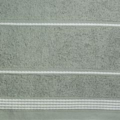 Ręcznik z bawełny ze sznurkowym zdobieniem 50x90cm - 50 X 90 cm - stalowy 4