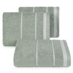 Ręcznik z bawełny ze sznurkowym zdobieniem 70x140cm - 70 X 140 cm - stalowy 1