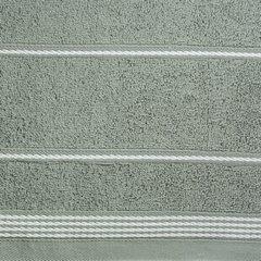 Ręcznik z bawełny ze sznurkowym zdobieniem 70x140cm - 70 X 140 cm - stalowy 5