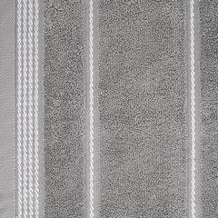 Ręcznik z bawełny ze sznurkowym zdobieniem 70x140cm - 70 X 140 cm - stalowy 6