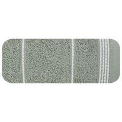 Ręcznik z bawełny ze sznurkowym zdobieniem 70x140cm - 70 X 140 cm - stalowy 2