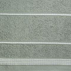 Ręcznik z bawełny ze sznurkowym zdobieniem 70x140cm - 70 X 140 cm - stalowy 4