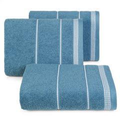 Ręcznik z bawełny ze sznurkowym zdobieniem 50x90cm - 50 X 90 cm - granatowy 1