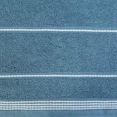 Ręcznik z bawełny ze sznurkowym zdobieniem 50x90cm - 50 X 90 cm - granatowy 9