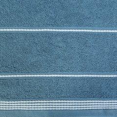 Ręcznik z bawełny ze sznurkowym zdobieniem 50x90cm - 50 X 90 cm - granatowy 10