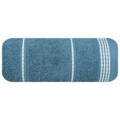 Ręcznik z bawełny ze sznurkowym zdobieniem 50x90cm - 50 X 90 cm - granatowy 2
