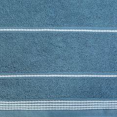Ręcznik z bawełny ze sznurkowym zdobieniem 50x90cm - 50 X 90 cm - granatowy 4