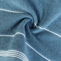 Ręcznik z bawełny ze sznurkowym zdobieniem 50x90cm - 50 X 90 cm - granatowy 5