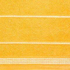 Ręcznik z bawełny ze sznurkowym zdobieniem 50x90cm - 50 X 90 cm - żółty 5