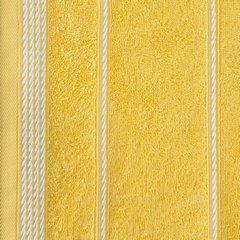 Ręcznik z bawełny ze sznurkowym zdobieniem 50x90cm - 50 X 90 cm - żółty 7