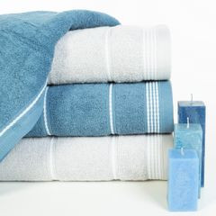 Ręcznik z bawełny ze sznurkowym zdobieniem 50x90cm - 50 X 90 cm - żółty 10