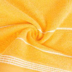 Ręcznik z bawełny ze sznurkowym zdobieniem 50x90cm - 50 X 90 cm - żółty 2