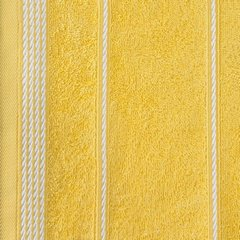 Ręcznik z bawełny ze sznurkowym zdobieniem 70x140cm - 70x140 - żółty 4