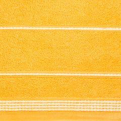 Ręcznik z bawełny ze sznurkowym zdobieniem 70x140cm - 70 X 140 cm - żółty 4