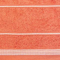 Ręcznik z bawełny ze sznurkowym zdobieniem 70x140cm - 70 X 140 cm - pomarańczowy 9