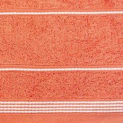 Ręcznik z bawełny ze sznurkowym zdobieniem 70x140cm - 70 X 140 cm - pomarańczowy 10